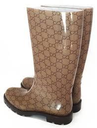gucci rain boots. unused gucci rain boots 38 gg beige gucci womens brown pattern rubber g