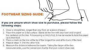 Teva Foot Sizing Chart