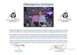 kp events group a message from dan and greg