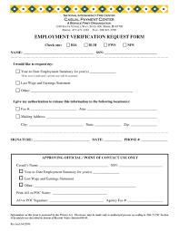 Employment Verification Request Form Template Employment Request Form Resume Template Sample 1