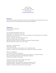 Wonderful Tax Preparer Resume Objective Images Example Resume