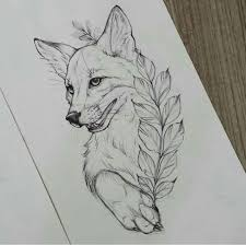 Fox Tattoo Sketch At Paintingvalleycom Explore Collection Of Fox