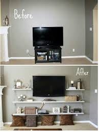 Floating Shelves For Dvd Player Etc Magnificent Chain Shelf Under Tv For Ps32 Dvd Player Etc Studio Apt Ideas