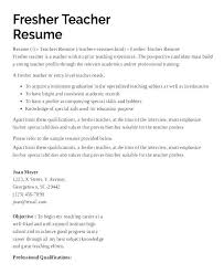 Skills Of A Teacher Resume Adorable Objective Teacher Resume Early Childhood Education Skills For