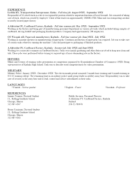 Resume Writing Examples For Students