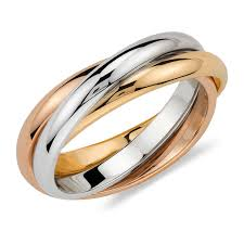 cartier wedding rings. Classic Trinity Tri Color Rolling Ring Cartier Inspired