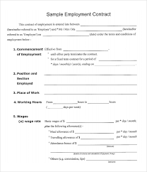 Free Employment Contract Templates Employment Agreement Sample In Word Gtld World Congress