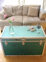 distressed trunk coffee table vintage trunk coffee table view in gallery distressed steamer trunk in teal