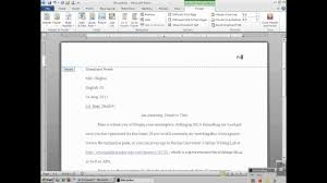 Microsoft Word Apa Header Setting Up Mla Header With Microsoft Word 2010