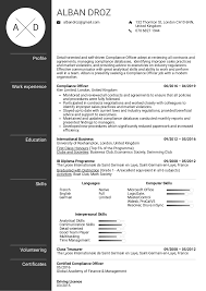 resume templ resume examples by real people compliance officer resume