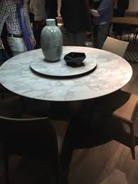 marble round dining table for best of with lazy susan built in inspirations 14