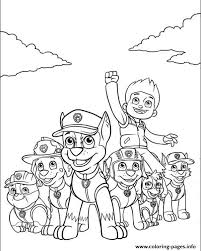 Print Paw Patrol Ryder And His Powerful Team Coloring Pages