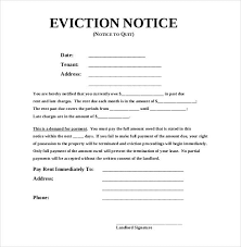 Letter Of Eviction Notice
