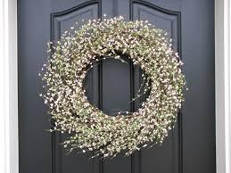 front door wreathWreath White Front Door  White Front Door Wreaths  Design Ideas