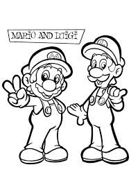 Kleurplaat Mario En Luigi Kleurplaten Voor Kinderen Mario