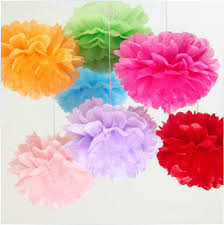 20pcs lot 12 30cm tissue paper pom poms flower ball wedding