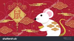 Happy new year, 2020, Chinese new year greetings, Year of the Rat ,  fortune. (Chinese translation: Chinese ne… | Chinese new year greeting,  Newyear, Year of the rat