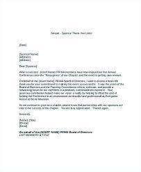 Thank You Letter For Sponsorship Donation Annual Dinner
