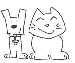 Fresco Disegni Da Colorare Con Cani E Gatti Migliori Pagine Da