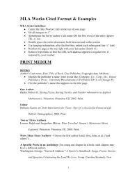 Work Cited Mla Works Cited Format Examples Schoolrack