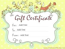 Make Your Own Gift Certificate Free Printable Free Gift Certificate Template Printable Templates A Lab