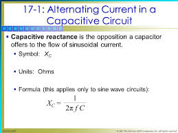 alternating current symbol. 17-1: alternating current in a capacitive circuit  reactance is the opposition symbol t