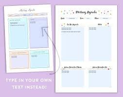 Blank Agenda Form Free Printable Templates Weekly Calendar Yakult Co