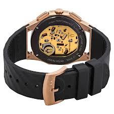 bulova curv chronograph black dial men s watch 98a185