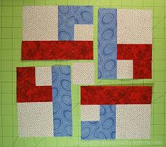 Simple Square Quilt Patterns Magnificent Chain Link Quilt Block Pattern 48 484848 And 484