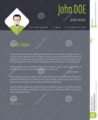Cool Dark Resume Cover Letter Cv Template Stock Illustration