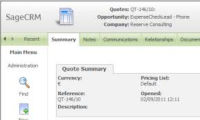 Reference The And Order Sage Crm - Your Community Quote User Formatting In Numbers Integrated Blog
