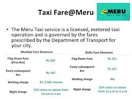 Meru Cabs Indias Finest Taxi Services