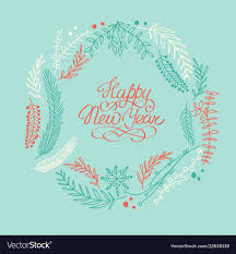 happy new year greeting frame vector image