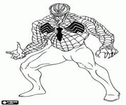 Venom Nemico Di Spiderman Da Colorare E Stampare