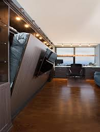 horizontal murphy bed with tv mounted