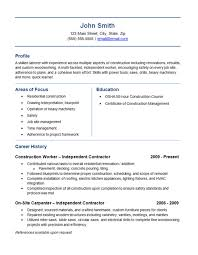 Awesome Contractor Resume Pictures Simple Resume Office