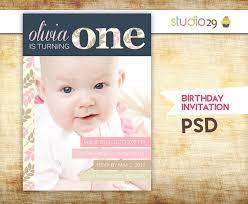 Birthday Invitation Template Photoshop Ritadubasdesign