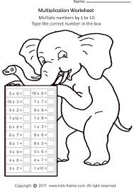Multiplication Worksheets - Multiply Numbers by 1 to 10