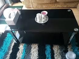 argos home matrix black glass coffee table