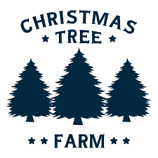 Size of this png preview of this svg file: Christmas Tree Farm Lettering Transparent Png Svg Vector File