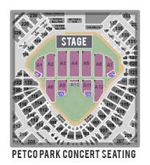 Padres Seating Chart Complete Petco Park Seating Chart With Row Numbers Best
