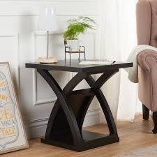 Shop Furniture Of America Barkley Modern Espresso X Base End Table