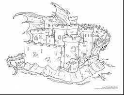 Small Picture marvelous dragon and castle coloring pages with dragons coloring