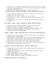 Unemployment Resume Delectable Resume For Accountant CPA