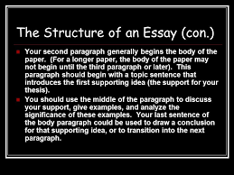 writing academic essays structure genre the structure of an the structure of an essay con your second paragraph generally begins the body