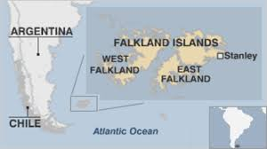 「Argentina invaded the Falkland Islands. map」の画像検索結果