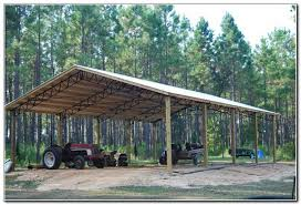 metal truss pole barn plans