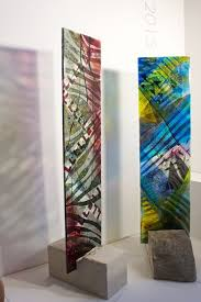 coloured stained modern glass panels
