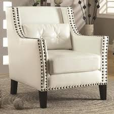 cool and opulent white leather accent chair white leather accent