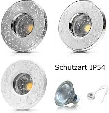 Gu10 Led Dimmbar 7watt 230volt Ip54 Sets Badleuchten Aqua